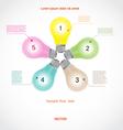 Conceptual icon a five light bulb for diagram vector image
