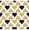 decorative seamless heart pattern vector image