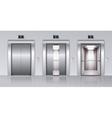 Elevators Realistic Composition vector image