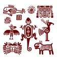 maya or indian traditional signs vector image