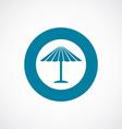 parasol mask icon bold blue circle border vector image