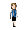 standing woman character female people business vector image