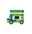 Vegan city food car van icon vector image