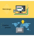 Web design and creative process concept vector image