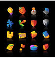 Realistic icons set for business vector image