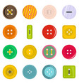 clothes button icons set in flat style vector image