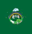 eco green city designcrescent vector image