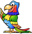 Hand-drawn of an Happy Colorful Parrot vector image