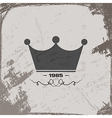crown vintage abstract grunge background vector image