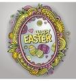 ornamental easter egg frame vector image