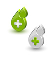 Green blood medical icons vector image vector image