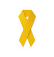 Yellow ribbon isolated on white background vector image