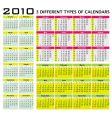 big set of 2010 calendars vector image