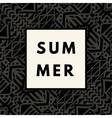 Summer hipster boho background vector image