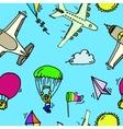 Aviation seamless pattern vector image