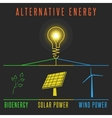 Alternative energy concept solar battery windmill vector image