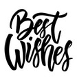 best wishes hand drawn lettering isolated on vector image