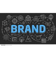 lines template brand vector image