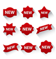 new advertising badges vector image