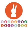 The Hand showing victory gesture icon Victoty vector image