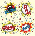 crash bam boom and bang vector image vector image