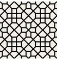 Seamless Black and White Geometric Cross vector image