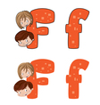 letter F face vector image vector image