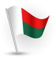 malagasy flag on pole vector image