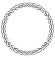 Rope circle vector image