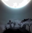 Halloween Gravestone vector image vector image
