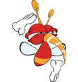 Cartoon of a red fly insect vector image vector image