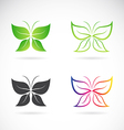group of butterfly design vector image