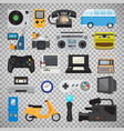 hipster tech gadget icons vector image