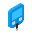 Home glucometer isometric 3d icon vector image
