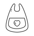 line bib baby tool that used to eat vector image