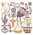 Native Americans Set vector image