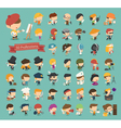Set of 50 professions vector image