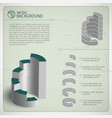 silver chart composition vector image