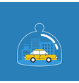 Trunsport coverage policy icon vector image