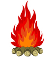 Bonfire isolated for you design vector image
