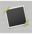 photo frame on adhesive sticky tape vector image