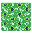 Seamless pattern Brazil 2014 vector image