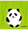 Cute cartoon panda character vector image vector image