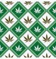 cannabis seamless texture vector image