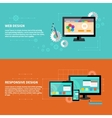 Responsive and web design concept vector image