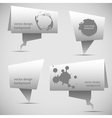 Abstract origami speech bubble vector image vector image