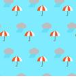 Seamless pattern rain cloud and umbrella vector image