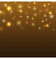 Background with particles and stars vector image