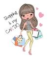 Cute Cartoon Girl vector image