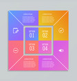 infographic templates in shape of square vector image